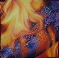 Silvia-Jelitto-Natur-Feuer-Moderne-expressiver-Realismus