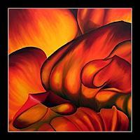 Silvia-Jelitto-Abstraktes-Pflanzen-Blumen-Moderne-Abstrakte-Kunst-Informel