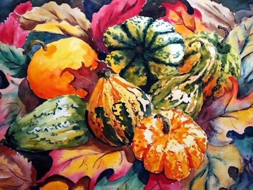 Herbst Ernte Von Karin Muller Stilleben Landschaft Herbst Malerei