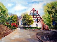 Karin-Mueller-Bauten-Haus-Landschaft-Berge