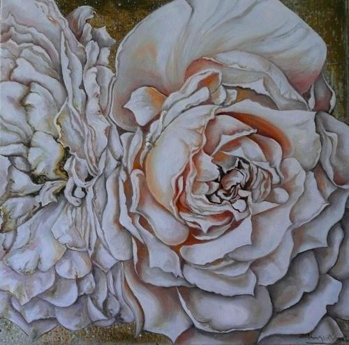 Anne Waldvogel, Lions Rose, Pflanzen: Blumen, Fotorealismus, Expressionismus
