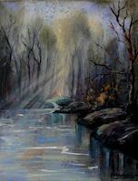 Anne-Waldvogel-Diverse-Landschaften-Natur-Wald-Moderne-Impressionismus