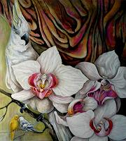 Anne-Waldvogel-Dekoratives-Pflanzen-Blumen-Moderne-Art-Deco