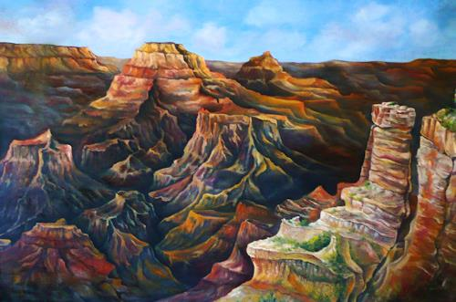 Anne Waldvogel, Grand Canyon, Landschaft: Berge, Land-Art, Gegenwartskunst