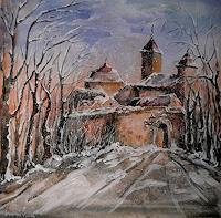 Anne-Waldvogel-Landschaft-Winter-Fantasie-Gegenwartskunst-Gegenwartskunst