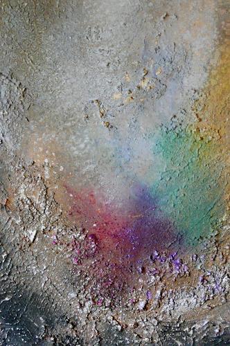 Anne Waldvogel, Abstraktion mit Marmormehl, Abstraktes, Abstrakte Kunst