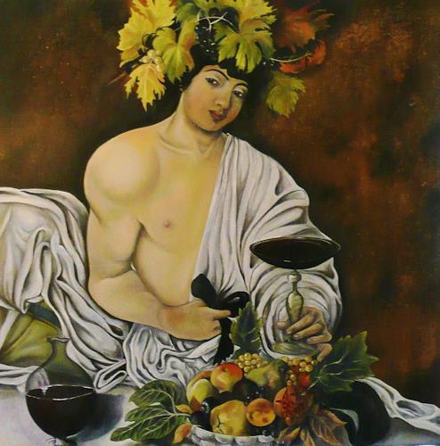 Anne Waldvogel, BACCHUS nach Caravaggio, Menschen: Mann, Mythologie, Renaissance