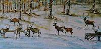 Anne-Waldvogel-Landschaft-Winter-Tiere-Land-Gegenwartskunst-Gegenwartskunst