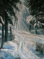 Anne-Waldvogel-Fantasie-Landschaft-Winter-Gegenwartskunst-Gegenwartskunst