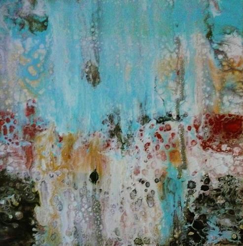 Anne Waldvogel, Pouring 5, Abstraktes, Abstrakte Kunst