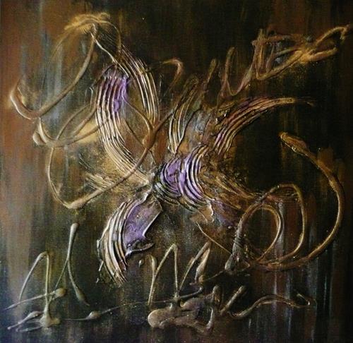 Anne Waldvogel, Inka Gold, Abstraktes, Abstrakte Kunst, Expressionismus
