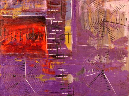Brigitte Kölli, Weltzeit, Abstraktes, Zeiten: Heute, Abstrakte Kunst