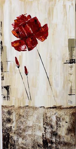 Brigitte Kölli, Wild Rose, Pflanzen: Blumen, Natur: Erde, Gegenwartskunst