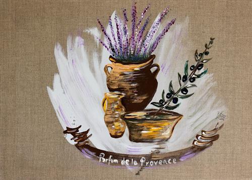Brigitte Kölli, Parfum de la Provence, Landschaft, Stilleben, Konkrete Kunst