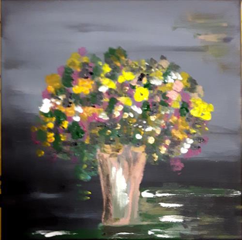 Brigitte Kölli, Last flowers, Stilleben, Dekoratives, Konkrete Kunst