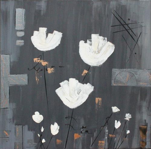 Brigitte Kölli, Duft der weißen Blüten, Pflanzen: Blumen, Natur: Erde, Konkrete Kunst