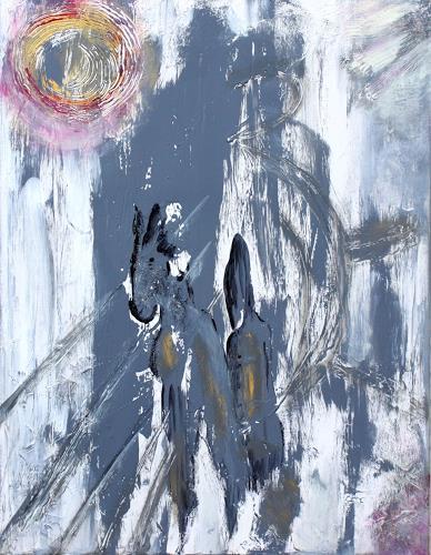 Brigitte Kölli, Grotte Chauvet 2, Abstraktes, Abstrakte Kunst