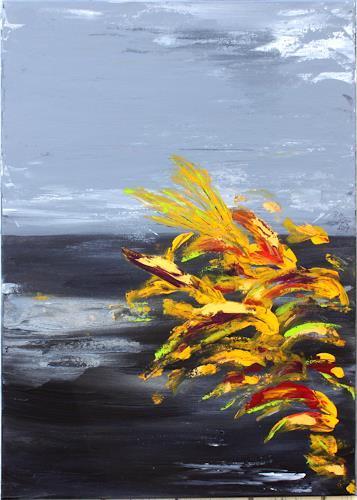 Brigitte Kölli, Caribian Night, Landschaft: See/Meer, Natur: Wasser, Konkrete Kunst