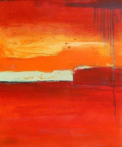 Conny Wachsmann, Rotes Bild Ernte 5, Abstraktes, Ernte, Abstrakte Kunst