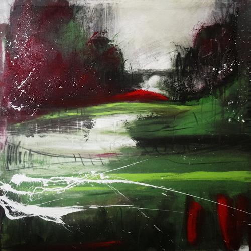 Conny Wachsmann, Der Weg zum loslassen, Abstraktes, Neue Wilde, Abstrakter Expressionismus