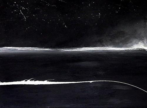 Conny Wachsmann, schwarz weiß Bild - Sternentanz, Bewegung, Landschaft, Abstrakte Kunst, Abstrakter Expressionismus