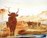 Conny-Wachsmann-Abstraktes-Tiere-Land-Moderne-Moderne