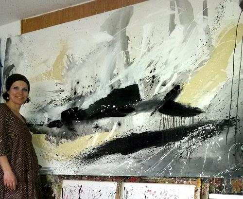 Moderne Kunst Bilder Schwarz Weiss ~ Moderne schwarz wei bilder gro moderne kchen mit insel l form