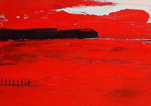 Conny Wachsmann, Rotes Bild - nicht allein, Diverses, Abstraktes, Abstrakte Kunst, Abstrakter Expressionismus