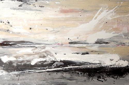 Conny Wachsmann, Ich komme zu dir - großes Bild, Landschaft, Abstraktes, Art Déco, Abstrakter Expressionismus