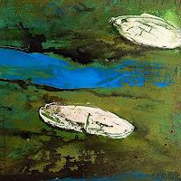 Conny Wachsmann, grünes abstraktes bild
