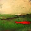 Conny Wachsmann, abstraktes grünes Bild - Drüben