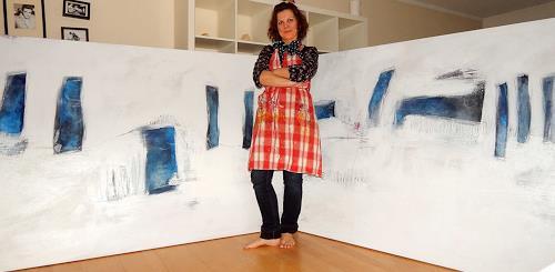 Conny Wachsmann, weisses gemälde, Abstraktes, Moderne