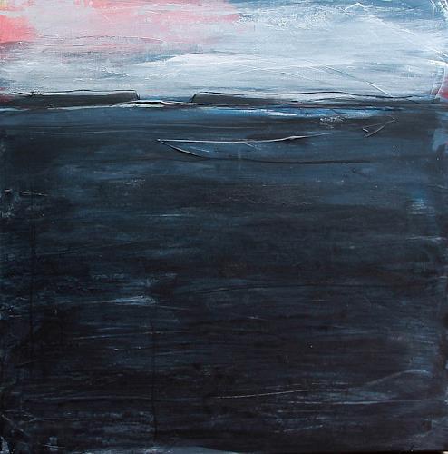 Conny Wachsmann, Blaues Bild - Tagesablauf Nummer 3, Diverse Tiere, Abstraktes, Abstrakte Kunst, Expressionismus