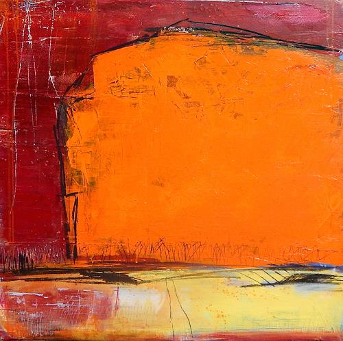 Conny Wachsmann, abstrakt orange rot Einweihungsfeier, Abstraktes, Dekoratives, Abstrakte Kunst, Abstrakter Expressionismus
