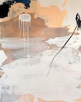 Conny Wachsmann, Freiraum 4 - beige braun weiß abstrakt