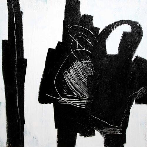 Conny Wachsmann, schwarzweiß Bild - Gesprächsrunde, Landschaft, Abstrakte Kunst