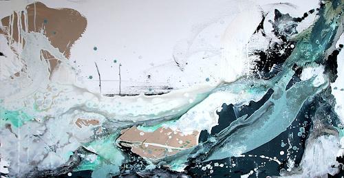 Conny Wachsmann, Surfende Gedanken, Landschaft: See/Meer, Abstraktes, Moderne, Expressionismus