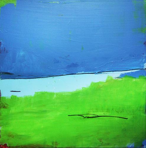Conny Wachsmann, Die Erinnerungen sind in einem - schwarz weiß Gemälde, Abstraktes, Action Painting