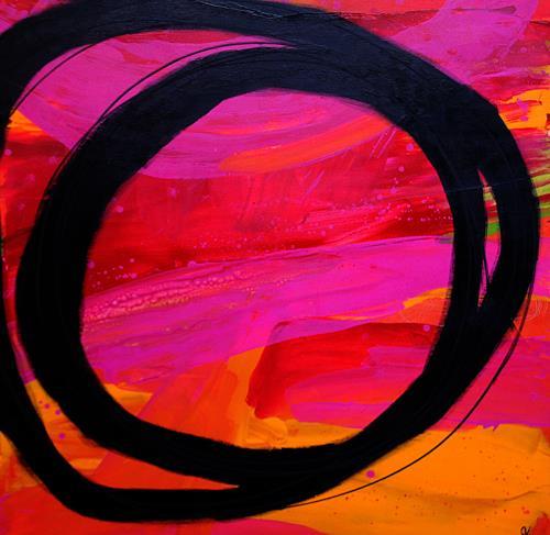 Conny Wachsmann, abstrakte rote Bilder - Lass uns Party machen, Abstraktes, Diverse Musik, Art Déco