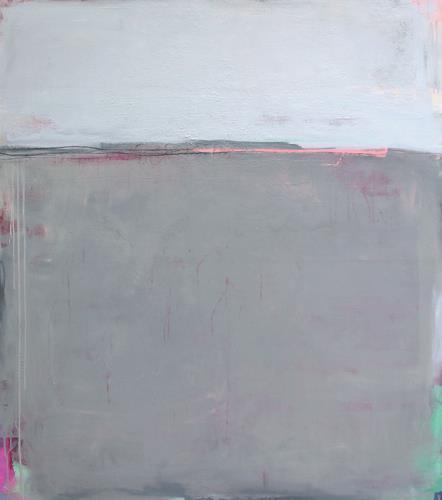 Conny Wachsmann, graues Bild Ferien (vom Rock´n Roll), Diverse Landschaften, Abstrakte Kunst