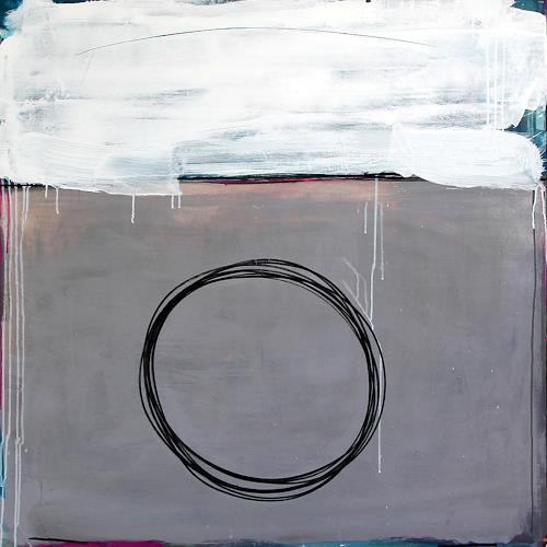 Conny Wachsmann, Kondensstreifen - 120 x 120 cm - grau, Diverse Landschaften, Abstrakte Kunst