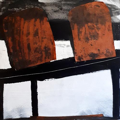Conny Wachsmann, schwarz weiss Bild, Abstraktes, Action Painting, Abstrakter Expressionismus
