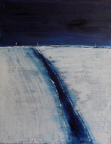 Conny Wachsmann, Ebbe und Flut - grau blau, Landschaft: See/Meer, Landschaft: Strand, Abstrakte Kunst, Expressionismus