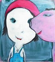 Conny-Wachsmann-Menschen-Familie-Dekoratives-Moderne-Abstrakte-Kunst-Action-Painting