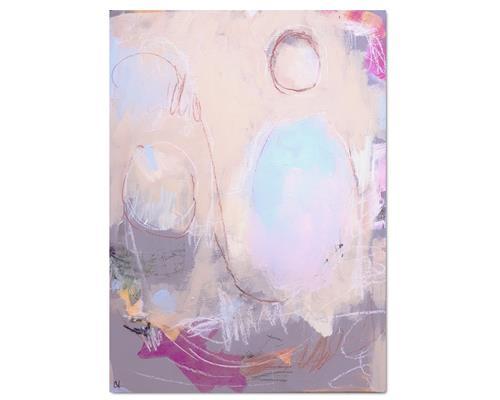 Conny Wachsmann, Bild beige Pastell, Abstraktes, Abstrakte Kunst, Expressionismus