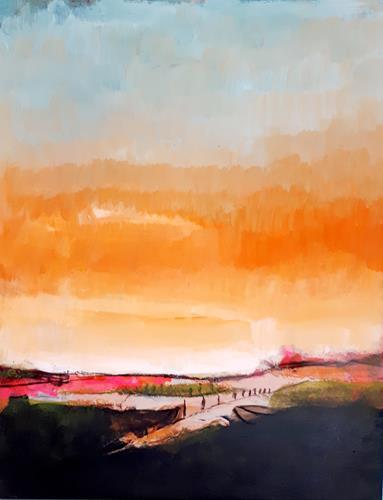 Conny Wachsmann, Abgelegene Idylle, Landschaft, Art Déco, Expressionismus