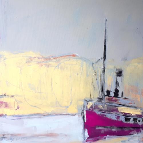 Conny Wachsmann, Sonnenseite, Landschaft: See/Meer, Arbeitswelt, Action Painting, Expressionismus