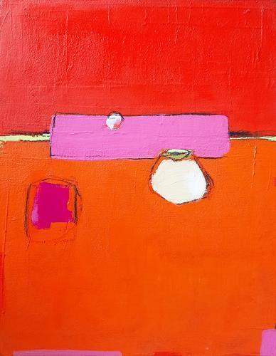 Conny Wachsmann, rote Bilder, Abstraktes, Art Déco