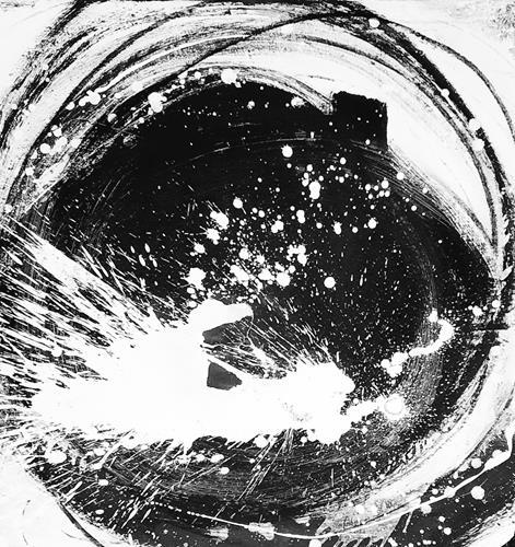 Conny Wachsmann, schwarzweißes Bild, Abstraktes, Abstrakte Kunst