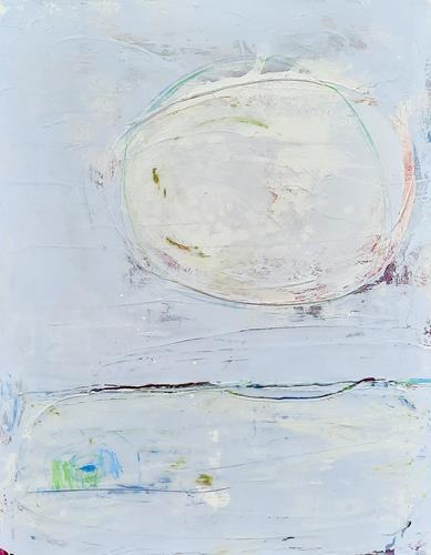 Conny Wachsmann, hellblaues bild, Abstraktes, Art Déco, Expressionismus